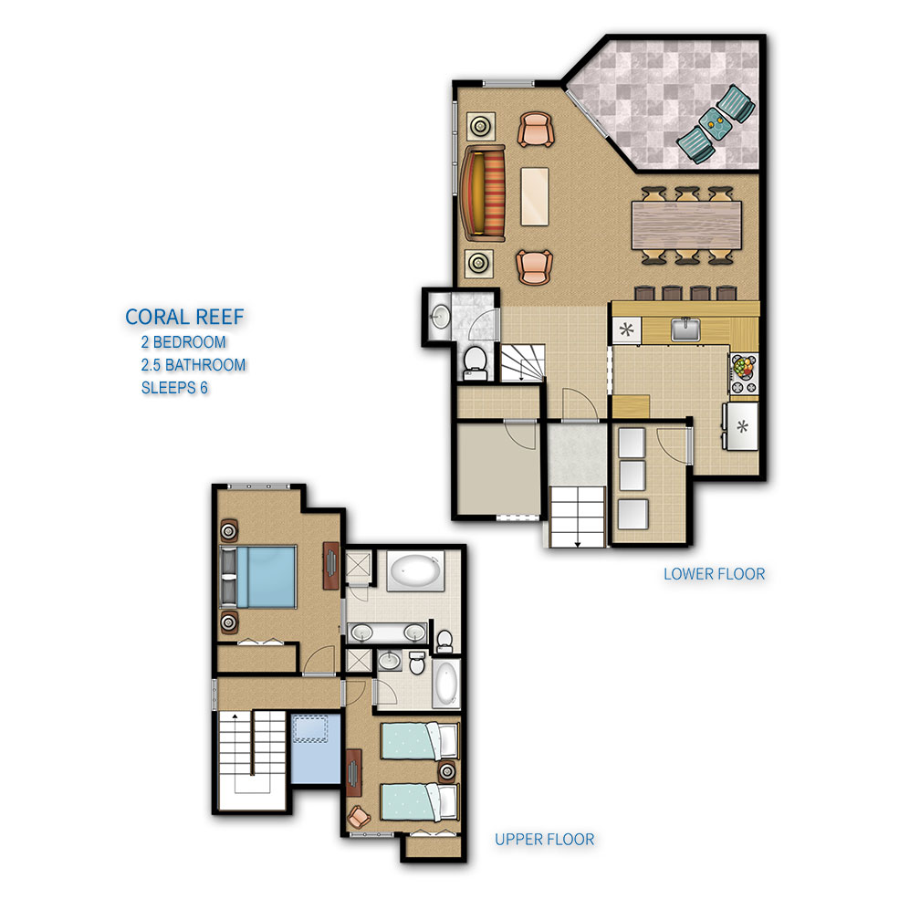 Hilton Head Island Coral Reef Resort Floor Plan